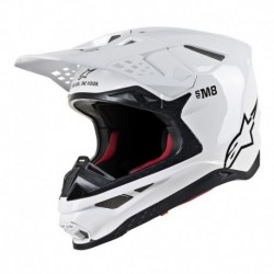 Casco Alpinestars S-M8 Solid Blanco