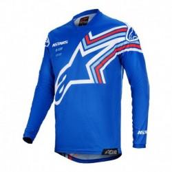 Polera de niño Alpinestars Racer Braap 2020 (Azul)