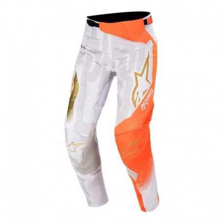 Pantalon Alpinestars Techstar Factory Metal 2020 (Gris Claro/Naranjo)
