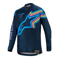 Polera de niño Alpinestars Racer Braap 2020 (Azul Marino)