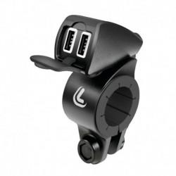USB-Fix Lampa Treck Handlebar Doble12/24V Ultra rápido