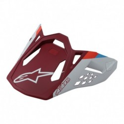 Vicera Alpinestars S-M10/S-M8 Solid (Rojo)
