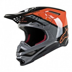 Casco Alpinestars S-M8 Triple Gris
