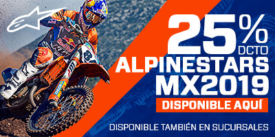 20% dscto en alpinestars mx2019