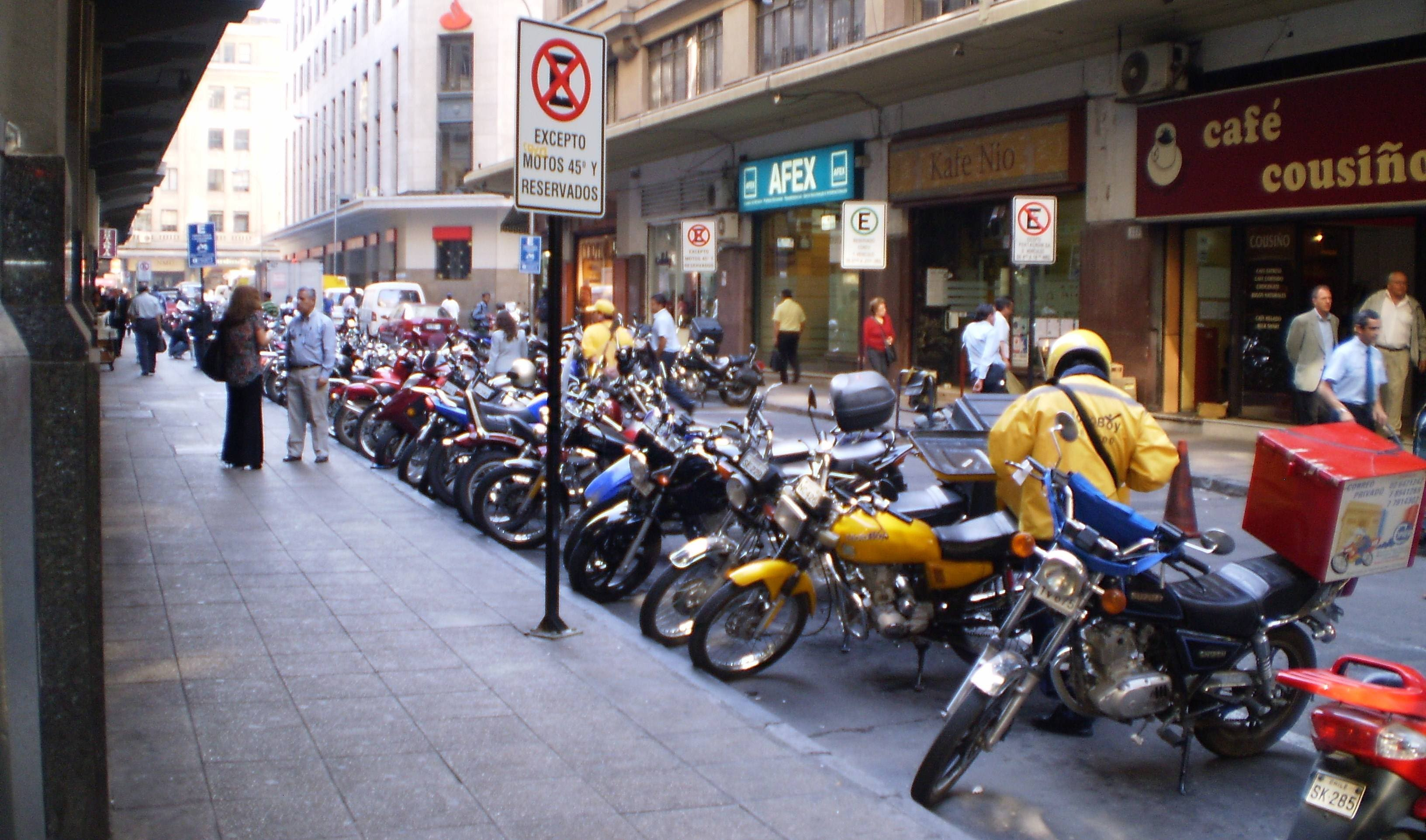 Estacionamiento de motos